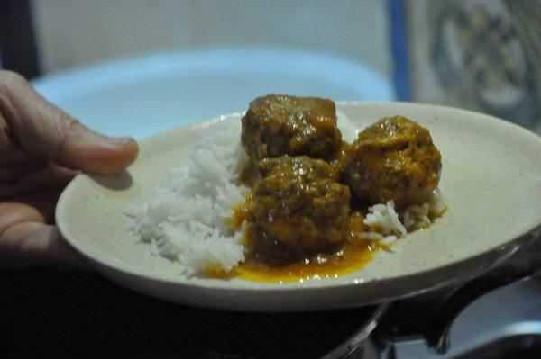 כדורי בשר בקארי הודי