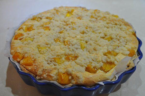 עוגת גבינה עם מנגו