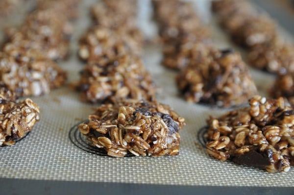 עוגיות שיבולת שועל שוקולד ושקדים